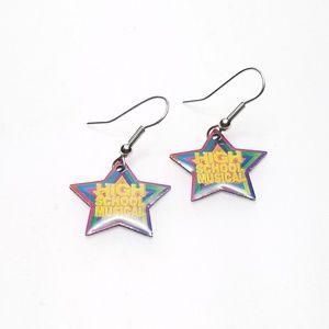 Disney High School Musical Colorful Star Earrings